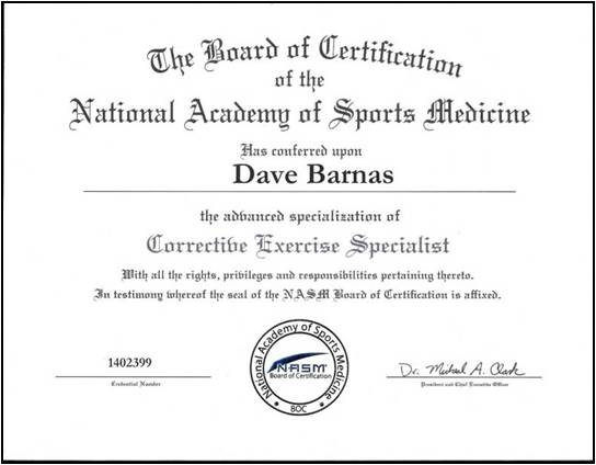 Welcome Message From Dave Barnas, MS, CES « Special Announcements ...